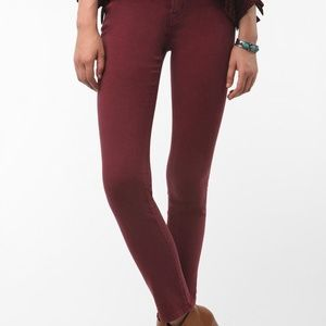 BDG high rise cigarette ankle jeans in red